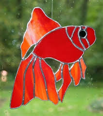 betta fish stained glass pattern