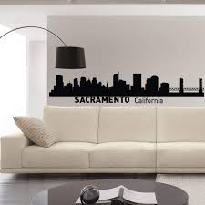 Amazon Com Sacramento California Skyline Wall Decal Vinyl Sticker City Silhouette Wall Decals Vinyl Stickers Living Room Office Bedroom Decor C013 Home Kitchen