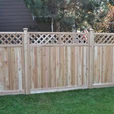 6 X 8ft Western Red Cedar Lattice Top Fence Panel U S Barricades Traffic Control Pedestrian Safety Products