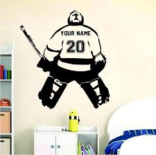 Hockey Goalie Standing Wall Sticker Decal In 2020 Baseball Wall Decal Hockey Goalie Goalie