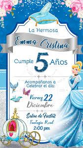 Tarjeta De Invitacion Digital Animada Princesa Cenicienta En 2020