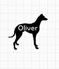 Customizable Greyhound Decal Sticker Personalized Greyhound Etsy