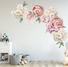 Large Peony Rose Flower Blossom Kids Girls Decal Home Nursery Decor Mural Gift Ebay