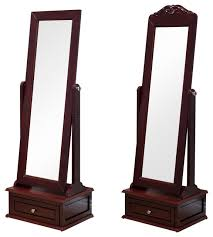 tilting cheval mirror in cherry wood
