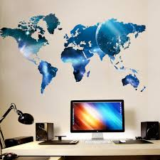 Map Decal World Map Wall Decal Office Home Decor Ellaseal