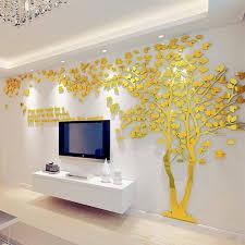 Diy 3d Large Tree Arcylic Mirror Wall Sticker Room Decal Mural Art Wall Decor Cl Ebay