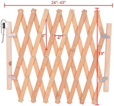 Xinyuanjiafang Folding Cat Pet Dog Barrier Wooden Safety Gate Expanding Swing Puppy Fence Door Simple Stretchable Wooden Fence L Amazon Co Uk Garden Outdoors