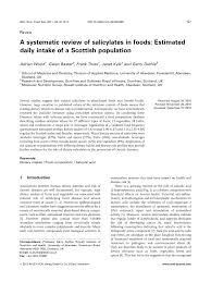 salicylates in foods