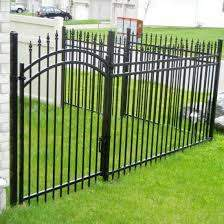 China Powder Coated Wrought Iron Fence Ornamental Fence Aluminum Fence Fencing Panel With Gate China Fencing Fence