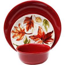 gardens 12 piece harvest dinnerware set