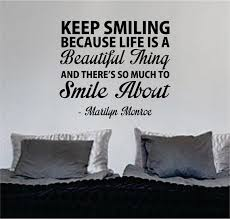 Marilyn Monroe Keep Smiling Quote Decal Sticker Wall Vinyl Decor Art Boop Decals
