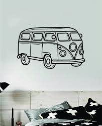Vw Mini Bus V3 Wall Decal Home Decor Vinyl Sticker Art Bedroom Room Te Boop Decals