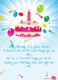 happy birthday to a great friend