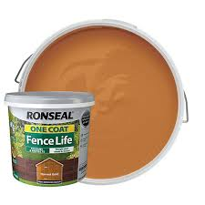 Ronseal One Coat Fence Life Matt Shed Fence Treatment Harvest Gold 5l Wickes Co Uk