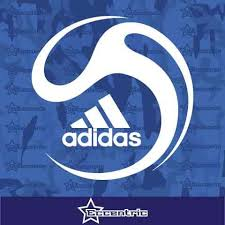 Adidas Ball Decal Sports Fitness Sticker Laptop Truck Car Storefront W Eccentric Mall