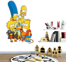 Amazon Com Yaunor Bart Simpson Stickers The Simpsons Character Style Homer Bart Lisa Marge Maggie Wall Decal Sticker Animated Tv Series Decal Home Kitchen