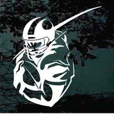 Detailed Football Player Running Car Window Decals Decal Junky