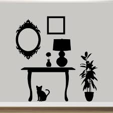 Furniture Silhouettes Wall Decals Wall Decor Stickers