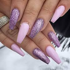 acrylic nails art glitter