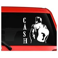 Amazon Com Johnny Cash Nice Silhouette Car Truck Laptop Window Decal Sticker White Sticker Graphic Auto Wall Laptop Cell Kitchen Dining