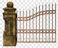 Gate Cemetery Fence Clip Art Home Fencing Iron Transparent Png