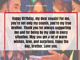 fabulous birthday wishes for cousin to rigid the bond