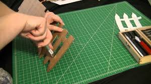 Cutting Out Cardboard Fence Painting It Youtube