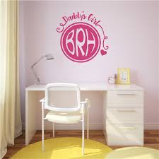 Daddy S Girl Monogram Initials Vinyl Decal Wall Stickers Letters Words Teen Room Decor