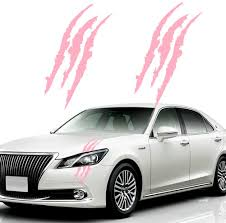 Amazon Com Ke Ke Claw Marks Decal Non Reflective Sticker Waterproof Headlight Decal Vinyl Sticker Decal For Sports Cars 2pcs Hot Pink Arts Crafts Sewing