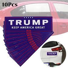 10pcs Donald Trump For President 2020 Bumper Car Body Sticker Keep Make America Great Decal Car Styling Fashion Car Stickers Aliexpress