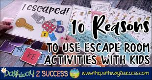 10 Reasons To Use Escape Room Activities The Pathway 2 Success