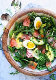 Keto Smoked Salmon Salad with Lemon ...