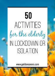 activities for the elderly in lockdown