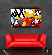 Popular Cartoon The Simpsons Wall Sticker Poster For Baby Room 90x50cm 36x20inch Free Shipping Sticker Price Poster Bannersticker Note Aliexpress