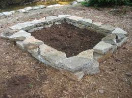 how to build a stone raised bed