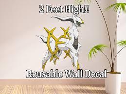 Handmade Reusable Removable Wall Decal Pokemon Arceus Wall Sticker Pokemon Wall Decals Wall Decals Pokemon Wall Stickers