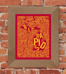 Big Rapids Michigan Ferris State University Whimsical Etsy