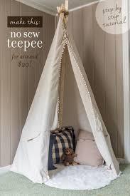 Diy Dropcloth Teepee For Around 20 Diy Kids Teepee Teepee Kids Diy Teepee