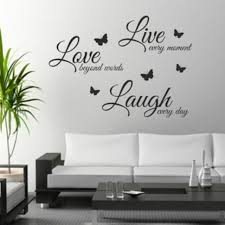 Diy Wall Art Live Laugh Love Butterfly Litters Sticker Crafts Walls Decals Stick For Sale Online