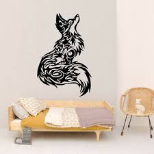 Vinyl Sticker Tribal Tattoo Fox Beautiful Wall Room Decor Art Mural Decal Fi501 Ebay