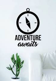 Adventure Awaits V8 Compass Quote Wall Decal Sticker Bedroom Living Ro Boop Decals