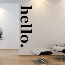 Hello Door Decal Welcome Wall Stickers Hello Wall Decal Quotes Hello Wall Mural Vinyl Lettering Wall Modern Wall Decals Hello Door Decal Office Wall Decals