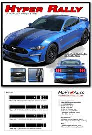 Hyper Rally Ford Mustang Rally Stripes Center Wide Racing Decals Vinyl Graphics Kit Fits 2018 2019 2020 Moproauto Professional Vinyl Graphics And Striping