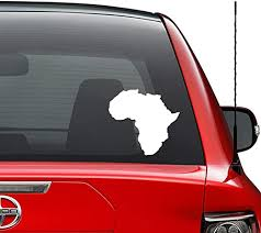 Amazon Com Africa Country Map Vinyl Decal Sticker Car Truck Vehicle Bumper Window Wall Decor Helmet Motorcycle And More Size 7 Inch 18 Cm Wide Color Matte Black