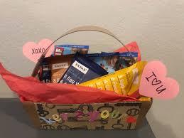valentine s themed gift basket for him