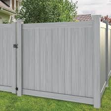 Freedom Hampton 6 Ft H X 6 Ft W Woodgrain Gray Vinyl Flat Top Fence Panel Lowes Com In 2020 Vinyl Fence Panels Vinyl Privacy Fence Vinyl Fence