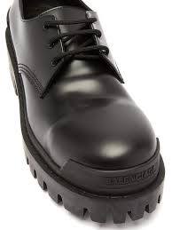 strike tread sole leather derby shoes