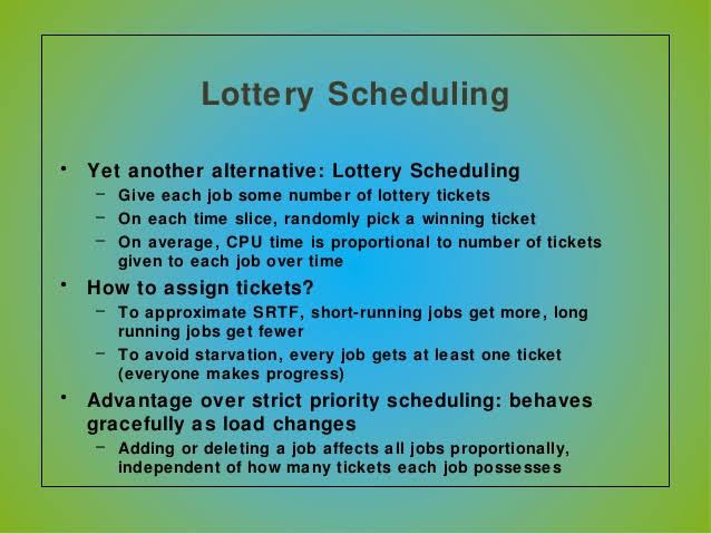 Lottery scheduling in OS