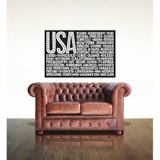 Wrought Studio Esposito Usa America Flag State Names Vinyl Words Wall Decal Wayfair