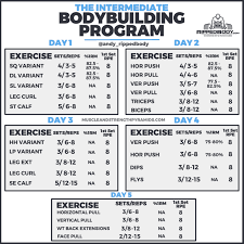interate bodybuilding program